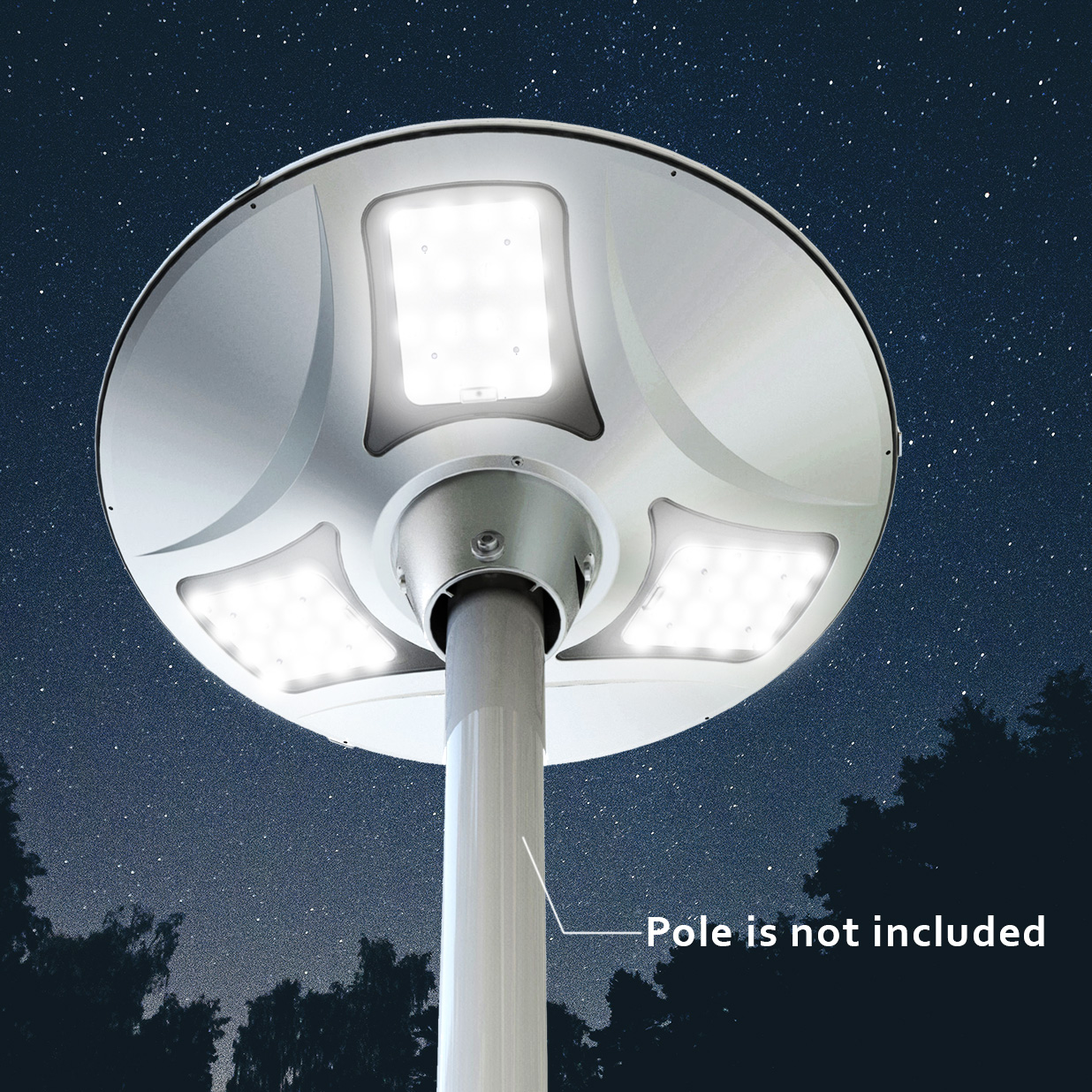 3000 LUMEN SOLAR LEDAREA LIGHT